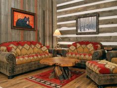 Check Out 20 Southwestern Living Room Designs To Inspire. The southwestern style… - Western Home Decor Living Room Western Living Rooms, Rustic Living Room Furniture, Western Furniture, Interior Design Living Room, Living Room Designs, Living Room Decor, Bedroom Decor, Interior Paint, Country Living