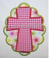 Cross Scallop Patch Applique Design