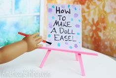 Doll Craft: How To Make A Painting Easel!