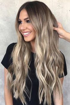 Balayage and ombre hair. Hair Color Ideas & Trends for Stylish and attractive. Balayage and ombre hair. Hair Color Ideas & Trends for Stylish and attractive. Ombre Hair Color, Hair Color Balayage, Cool Hair Color, Balayage Highlights, Blonde Balayage Long Hair, Color Highlights, Ombre Balayage, Blonde Hair On Brunettes, Amazing Hair Color