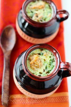 Cooking With Siri: Amma's Recipes: Chana Dal Wadi ki Kadhi [Lentil Dumplings in Yogurt Gravy] Veg Recipes, Indian Food Recipes, Ethnic Recipes, Vegetarian Soup, Vegetarian Recipes, Indian Dishes, Special Recipes, Everyday Food, Gourmet