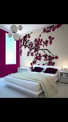 Unique Japanese Bedroom for Your Home. Japanese bedroom design style has unique characteristics. Japanese interior is about how to design the space that blends with nature. Dream Bedroom, Home Bedroom, Bedroom Decor, Bedroom Ideas, Master Bedroom, Bedroom Themes, Modern Bedroom, Girls Bedroom, Bedroom Wall Decals