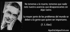 El 4 de enero de 1965, #TalDíaComoHoy falleció el escritor estadounidense Thomas S. Eliot, uno de los grandes poetas del siglo XX, que eligió la tierra de sus antepasados, Inglaterra, para afianzar una carrera que le valió el Premio Nobel de Literatura en 1948.