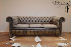 Chesterfield couch, original, very good condition.