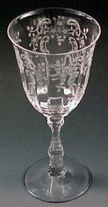 Fostoria Meadow Rose VTG Glass Water Goblet Crystal Stemware Elegant Etched - Google Search