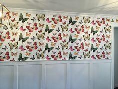 Butterfly wallpaper Butterfly Wallpaper, Beautiful Wallpaper, Valance Curtains, Home Decor, Homemade Home Decor, Decoration Home, Room Decor, Interior Design, Home Interiors