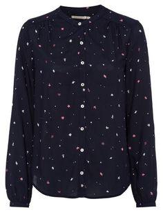 Alka Autumn Meadow shirt | navy