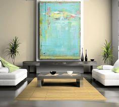 Large Abstract Painting custom painting door CherylWasilowArt