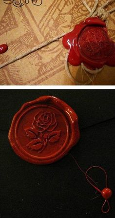 My husband and I used wax to seal our wedding invitations. We matched them with our wedding bands which have a celtic knot on them.