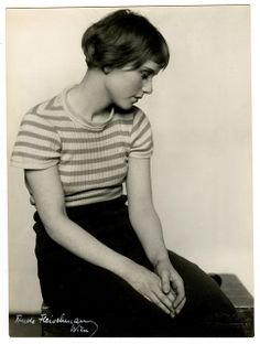 Austrian born American photographer Trude Fleischmann (1895-1990). Each image is 9x7in with signature to front and Wien studio stamp.    The model is the stunning Dolly Haas.