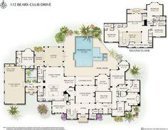 112 Bears Club Dr, Jupiter, FL 33477   10,405 sf   5 bed   7 bath   built 2003   1.03 acres   $8,999,000.