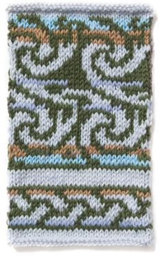 Arles.  Colorwork pattern, charted.