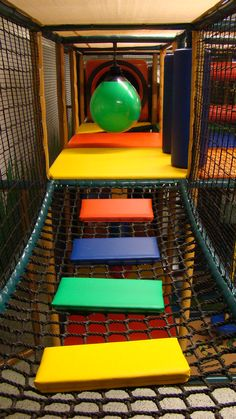 Indoor Playground Events in a play structure:  So many different types of bridges can be used in a playground. Bridges connect play areas to another play area.