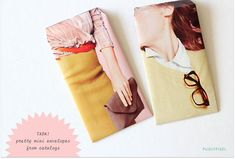 little pouches made from magazine pages! tuesday's girl: pugly pixel diy. / sfgirlbybay