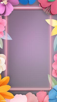 Colorful and tropical floral frame mockup | premium image by rawpixel.com / nunny Flower Background Wallpaper, Flower Phone Wallpaper, Framed Wallpaper, Neon Wallpaper, Cute Wallpaper Backgrounds, Pretty Wallpapers, Flower Backgrounds, Colorful Wallpaper, Cellphone Wallpaper