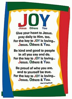 Jesus Others You JOY!