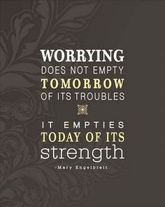 Worrying by Mary Engelbrett via yellowbrickblog