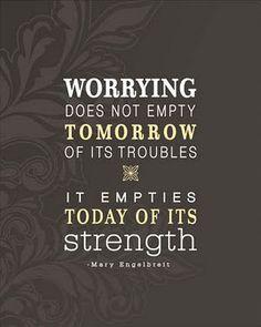 Worrying by Mary Engelbrett via yellowbrickblog
