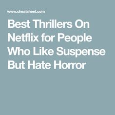 Netflix is constantly releasing top-notch horror and thriller films. Let's take a look at some of their best releases for thriller lovers. Best Documentaries On Netflix, Netflix Hacks, Good Movies On Netflix, Good Movies To Watch, Netflix Shows To Watch, Tv Series To Watch, Series Movies, Movies And Tv Shows, Netflix Series