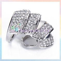 Finger Armor Ring | Punk Style Full Finger Armor Knuckle Hinged Double Two Ring w ...