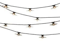City Outdoor String Lights, Galvanized | String Lights | One Kings Lane