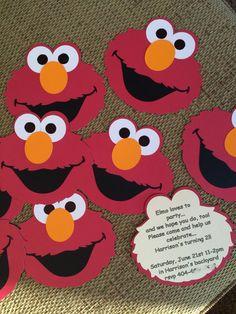 Elmo birthday or baby shower invitations (set of 10)