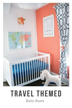 Tips on how to make the ideal Travel Themed Baby Room. How to make a Travel Themed Nursery on a budget and limited space. Travel Theme Nursery, Themed Nursery, Nursery Themes, Girl Nursery, Nursery Ideas, Room Ideas, Traveling With Baby, Travel With Kids, Family Travel