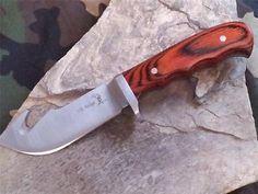 "Elk Ridge Guthook 8"" Fixed Blade Skinning Knife w/ Pakkawood Handle 524"