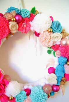 Christmas wreath made by silly old suitcase
