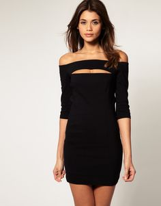 off the shoulder LBD. - love this one!
