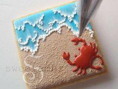 Excellent Tutorial: Beach Cookies!