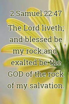 2 Samuel 22:47 Jesus Is Lord, Jesus Christ, Jesus Scriptures, Prayer Partner, 2 Samuel, Favorite Bible Verses, Praise And Worship, Mellow Yellow, Word Of God