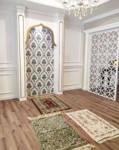 30 Praying Room Ideas To Bring Your Ramadan More Beautiful Beautiful Home Designs, Beautiful Houses Interior, Beautiful Homes, Prayer Corner, Room Partition Designs, Islamic Decor, Prayer Room, Islamic Architecture, Home Deco