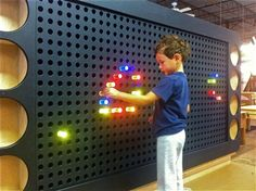 Lite Brite Wall...ummm can I have this in my living room?