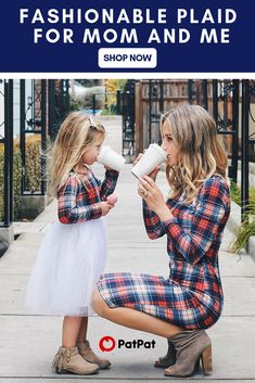 Big Discount MVUPP Mother Daughter Dresses Fall 2018 Family Matching Outfits Mommy and Me Girls Long Sleeves Stripe Plaid shirt Lady Clothes. Plaid Fashion, Kids Fashion, Fashion Outfits, Fashion Clothes, Trendy Fashion, Fall Outfits, Kids Outfits, Cute Outfits, Mommy And Me Outfits