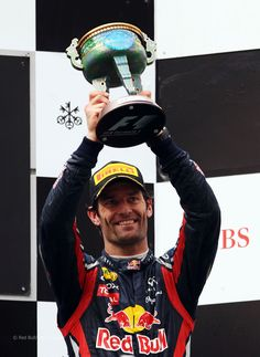 Formula One star Mark Webber of Australia....a final lap with no helmet shows just how much he loves F1....farewell Mark!