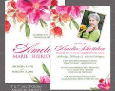 Funeral Memorial Memory Card // Printable by sfmprintables