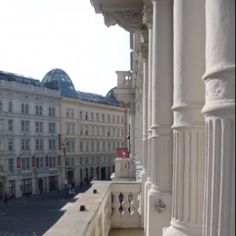 Balcony at the Hotel Sacher in Vienna, Austria