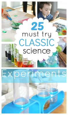 Fun science experiments for preschool, kindergarten, and grade school age kids. Classic science activities that are easy to do with kids. Science ideas for all ages. Also great ideas for science fair projects.