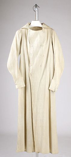 ca.1815, French, unusual ribbed cotton overcoat from the Met Museum
