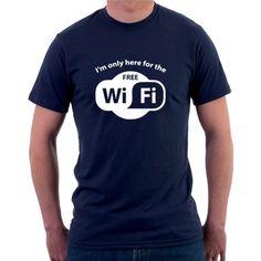 b91c5ce1bab I am only here for the Free WiFi - Pánské tričko s vtipným potiskem