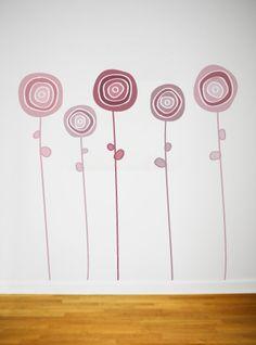 flores abstractas - vinilo
