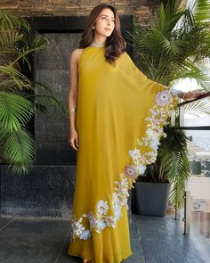 *Drepe Dress😍* Fabric details👇👇 *Reyon(bombay dying)* Lenght- 52 *Cut work embroidery* Sizes- 38 to 46 *Specialization- Rubber embroidery… Indian Gowns Dresses, Pakistani Dresses, Indian Wedding Outfits, Indian Outfits, Indian Designer Outfits, Designer Dresses, Stylish Dresses, Fashion Dresses, Trendy Outfits