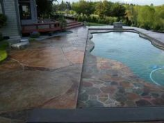Decorative Concrete Pool With Hidden Pool Cover