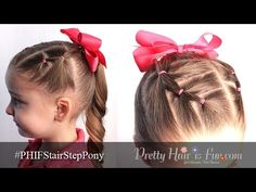 How To: Toddler Hair: Stair Step PonyTails | Pretty Hair is Fun - YouTubeBraid Hairstyles, Braids, braids tutorial, braids for short hair, braids for short hair tutorial, braids for long hair, braids for long hair tutorials...