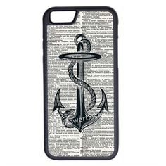 CellPowerCasesTM Nautical Anchor on Dictionary iPhone 6 (4.7)... ($13) ❤ liked on Polyvore featuring accessories, tech accessories, phone cases and black