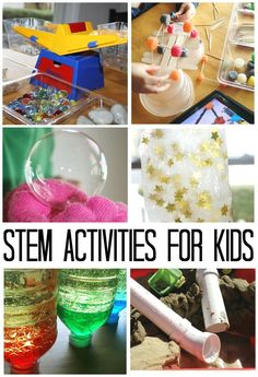 STEM Activities and science experiments for young kids. Awesome, easy water science, slimes, eruptions, and more!