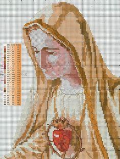 Schema punto croce Fatima 24