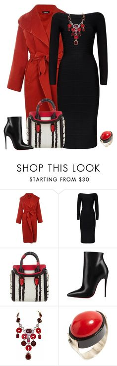 """""""outfit 6730"""" by natalyag ❤ liked on Polyvore featuring Boohoo, Hervé Léger, Alexander McQueen, Christian Louboutin and Carlo Zini"""