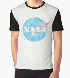 """NASA Vintage Watercolors"" Graphic T-Shirts by Lidra | Redbubble"